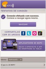 Conectado à Oi WiFi Fon