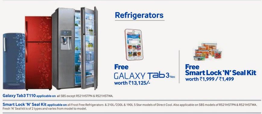 2014 Diwali offer by Samsung Fridge