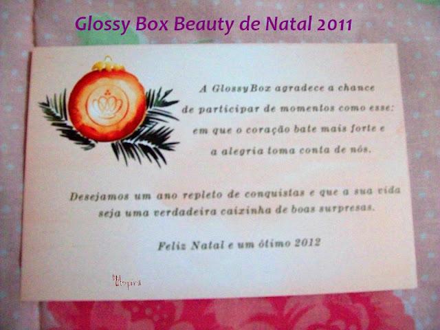 Cartão de Natal da Glossy Box Beauty Natal 2011