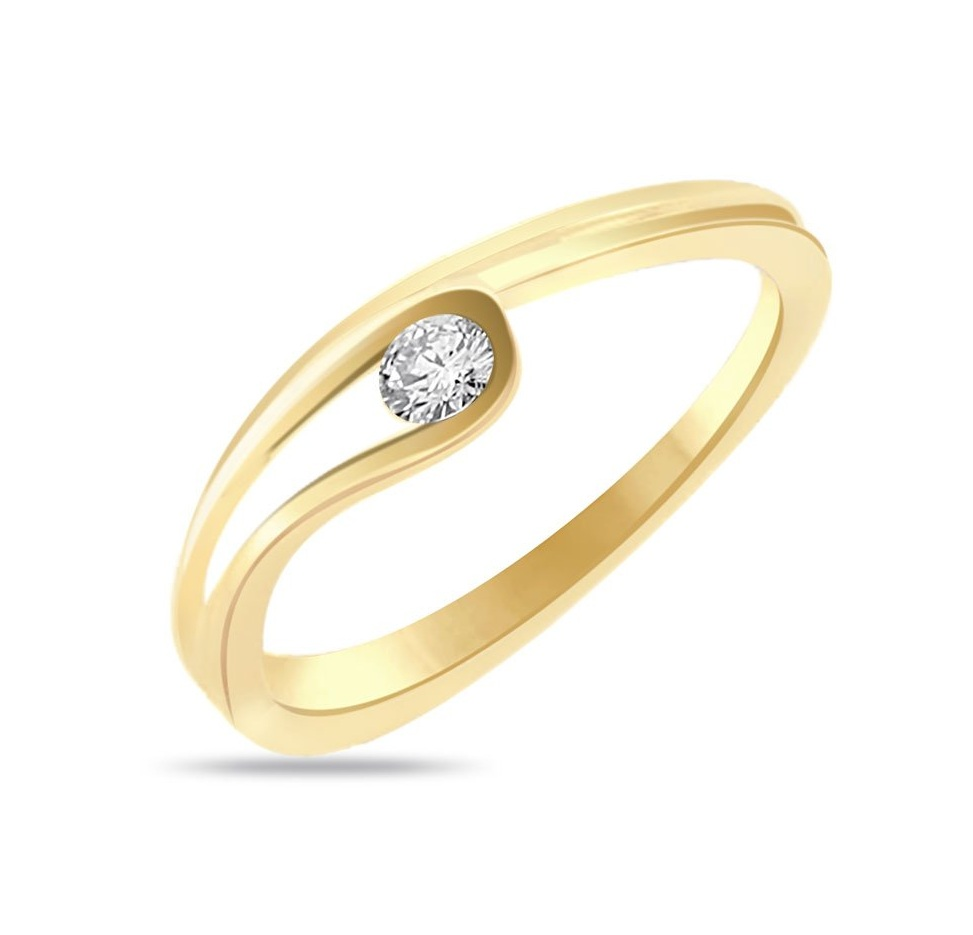 Gold engagement rings