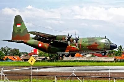 C-130 Hercules TNI-AU, A-1323. PROKIMAL ONLINE Kotabumi Lampung Utara
