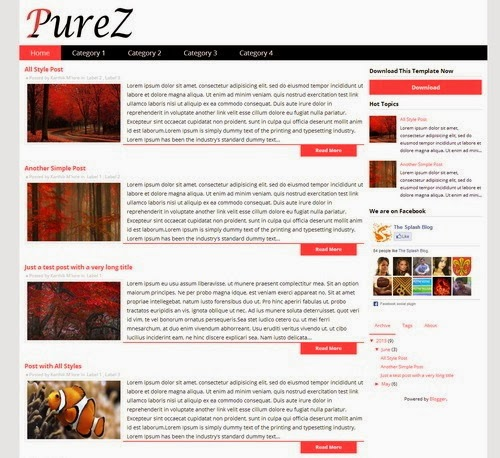 PureZ Blogger Template