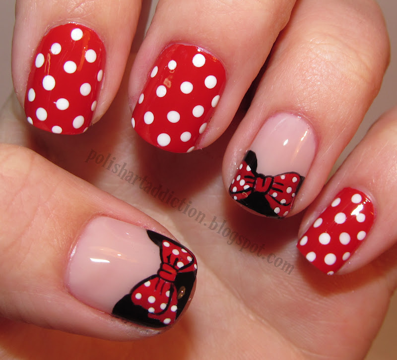 Red And White Nail Art moreover Red And White Nails. on nail art red