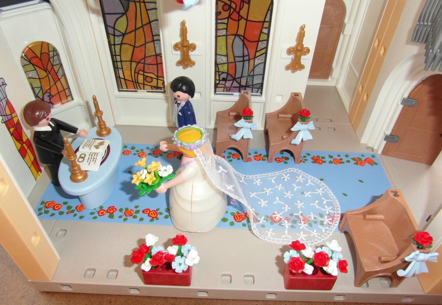 playmobil mariage eglise. Black Bedroom Furniture Sets. Home Design Ideas