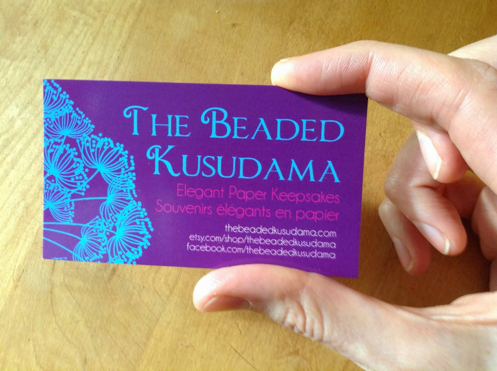 The Beaded Kusudama: Tutorial: How to Make a Business Card Using GIMP