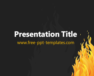 fire flame ppt template free powerpoint templates. Black Bedroom Furniture Sets. Home Design Ideas