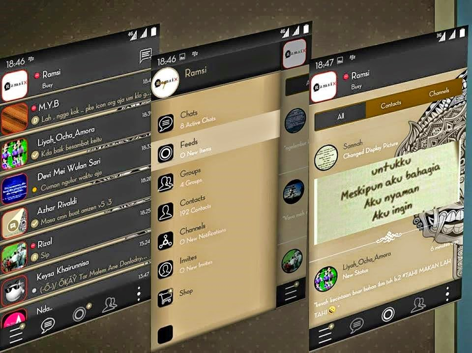 Download BBM Mod Aksara Version 2.7.0.23 Apk