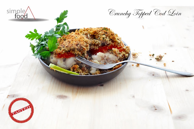 Crunchy Topped Cod Loin ~ Simple Food