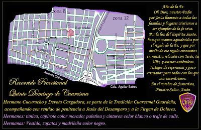 recorrido procesional quinto domingo de cuaresma barrio guarda viejo ciudad guatemala