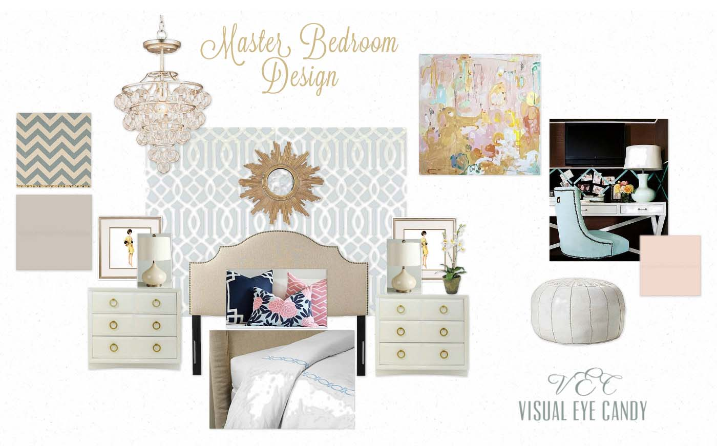 Visual Eye Candy: Master Bedroom Design Board