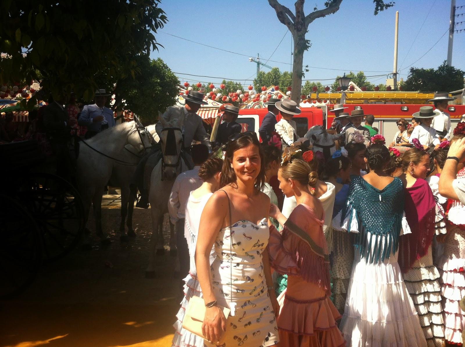 robe à lunettes Naf Naf, Feria de Sevilla