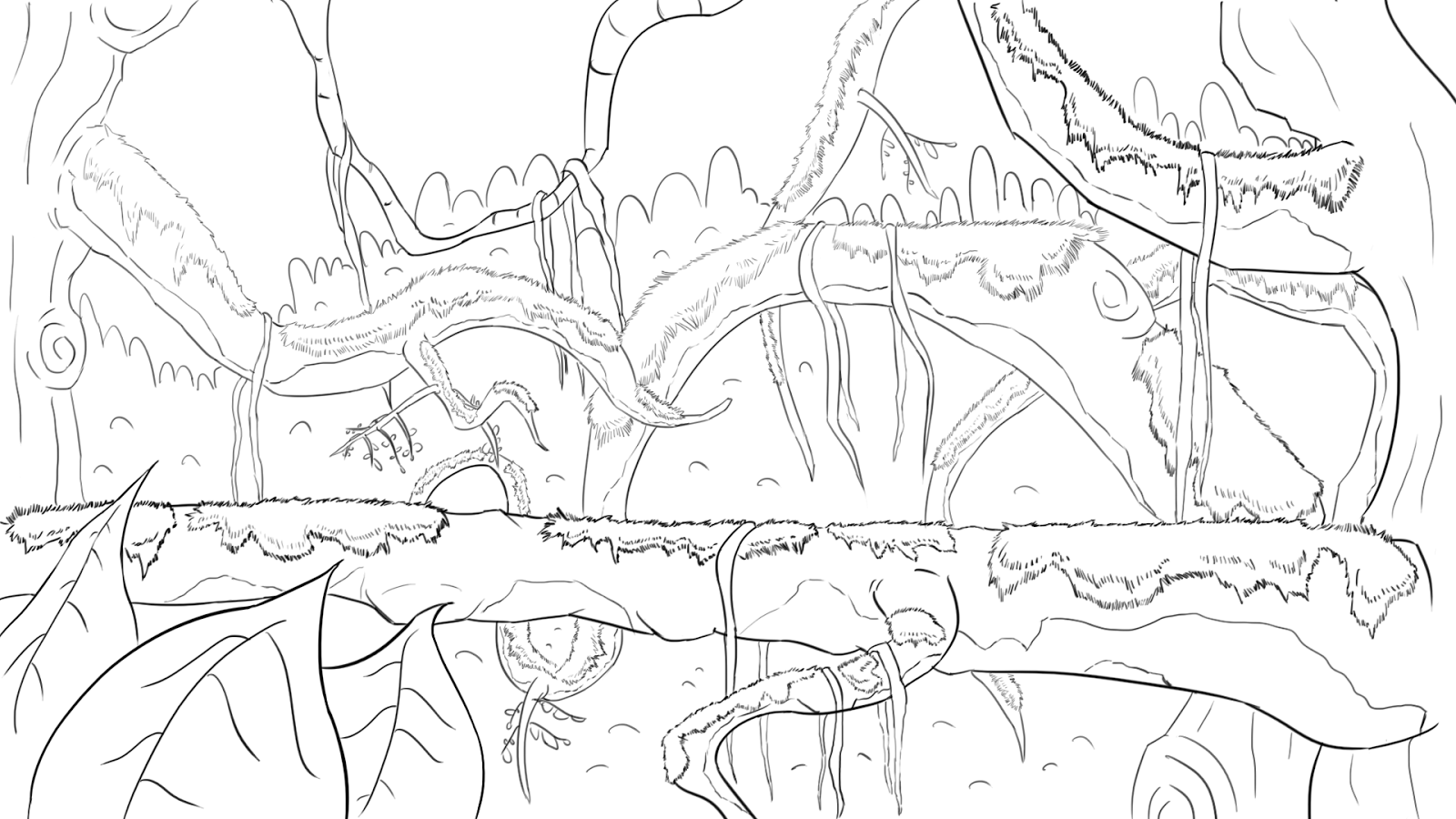 Mes dessins: La Jungle