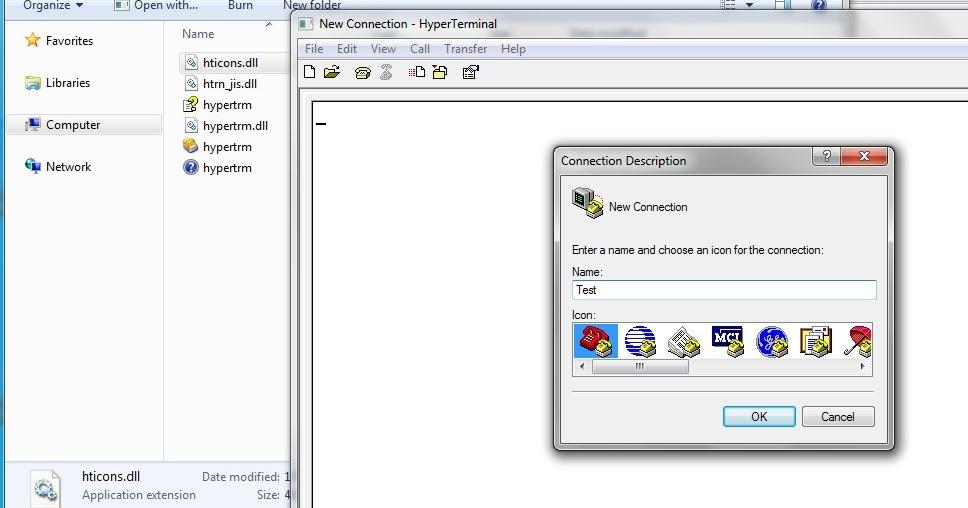 how to run hyperterminal in windows 7 64-bit