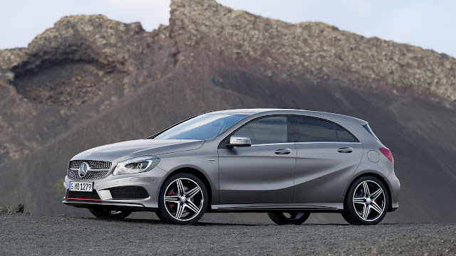 The Mercedes-Benz A-Class side