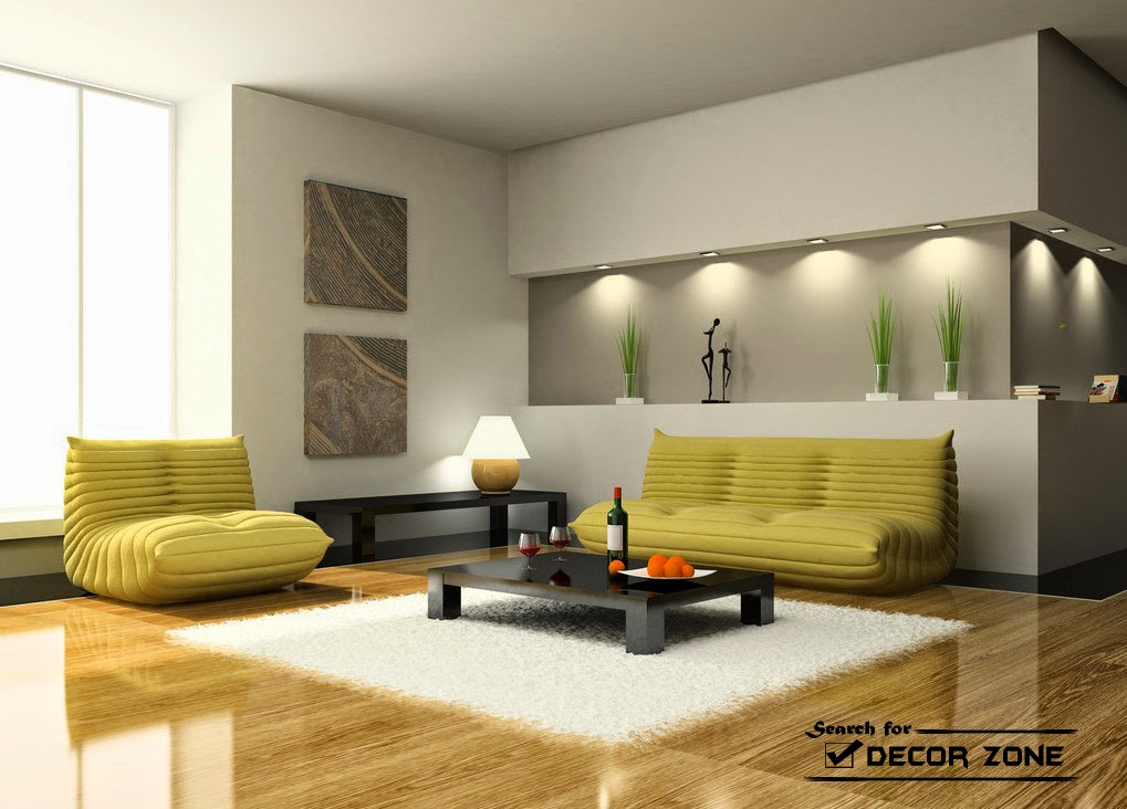 small living room furniture and wall lighting ideas