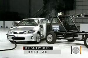 Lexus CT 200h Safety test