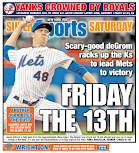 Mets score page despite perfect Yankee headline