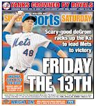 Mets score page despite perfect Yankee headline