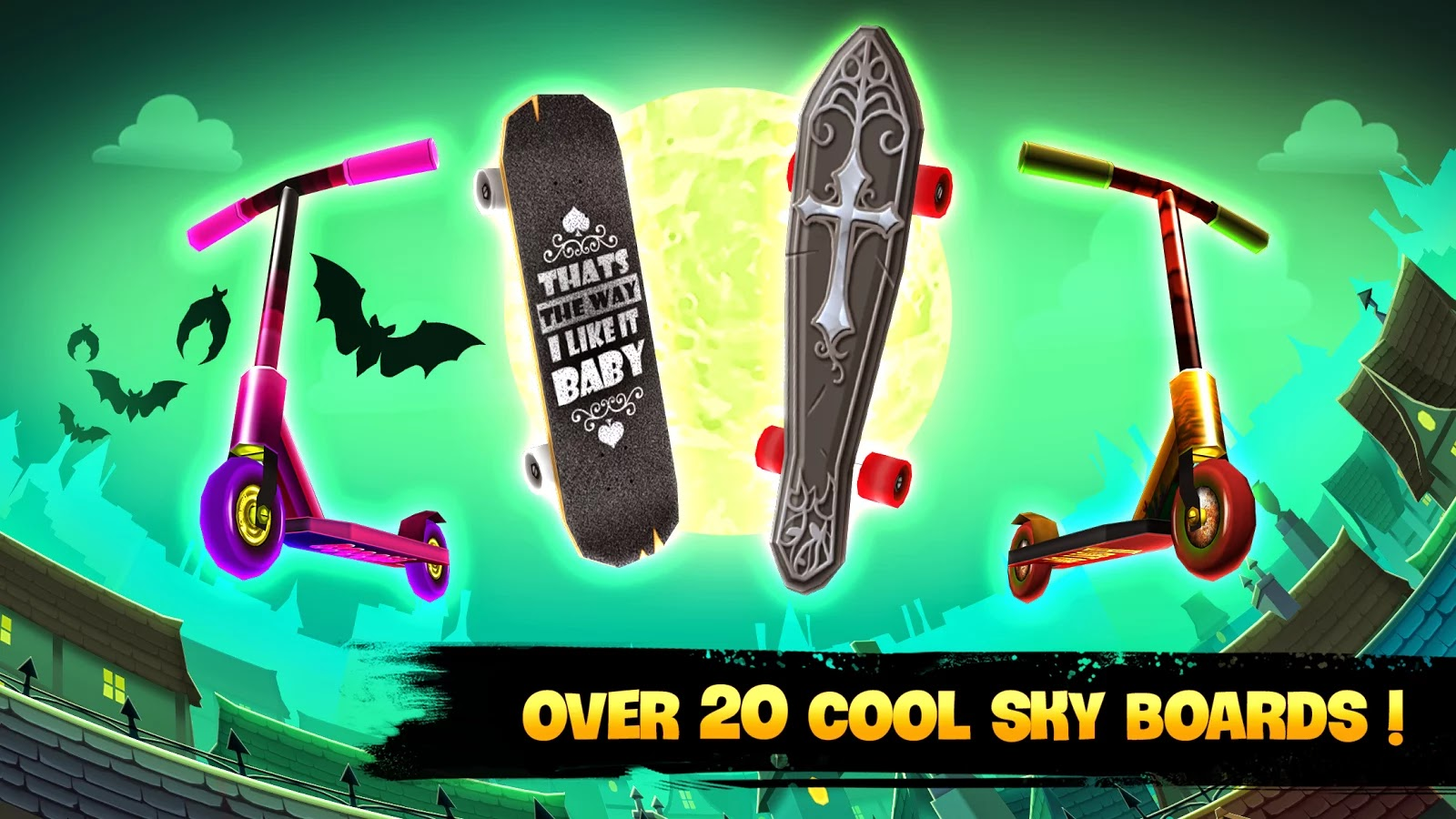 Skyline Skaters v1.4.1 Mod [Unlimited Coins & Cash]