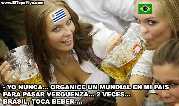 Meme de humor homenaje al 7-1 de Brasil Alemania - Yo nunca... Brasil vs Uruguay