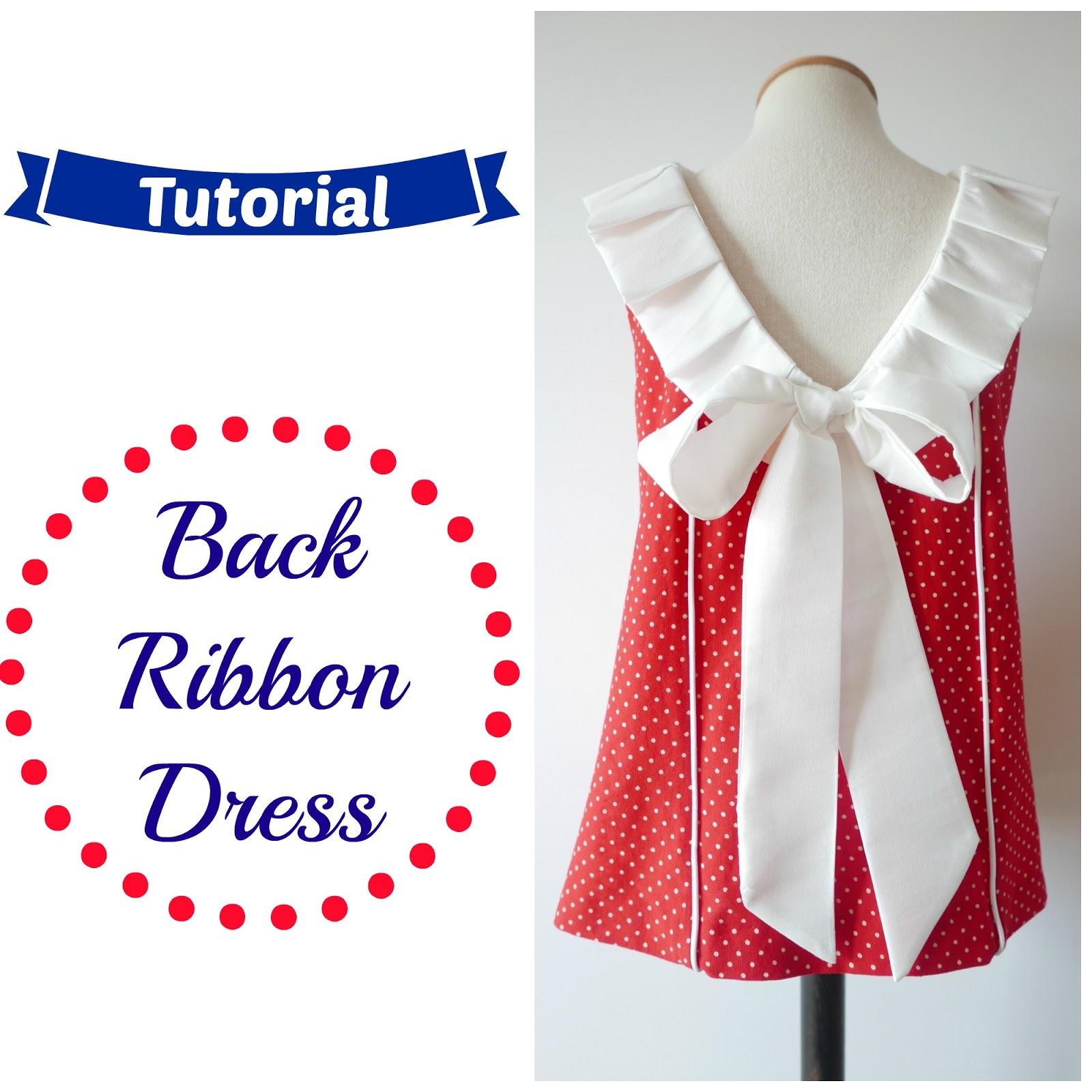 Cómo hacer un Vestido de Niña con lazo en la espalda ~ Colours for Baby