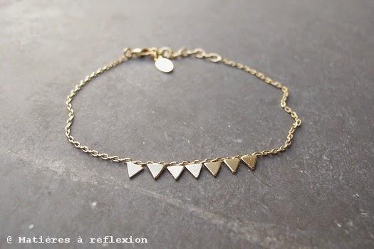 Bracelet triangles Stalactite plaqués or