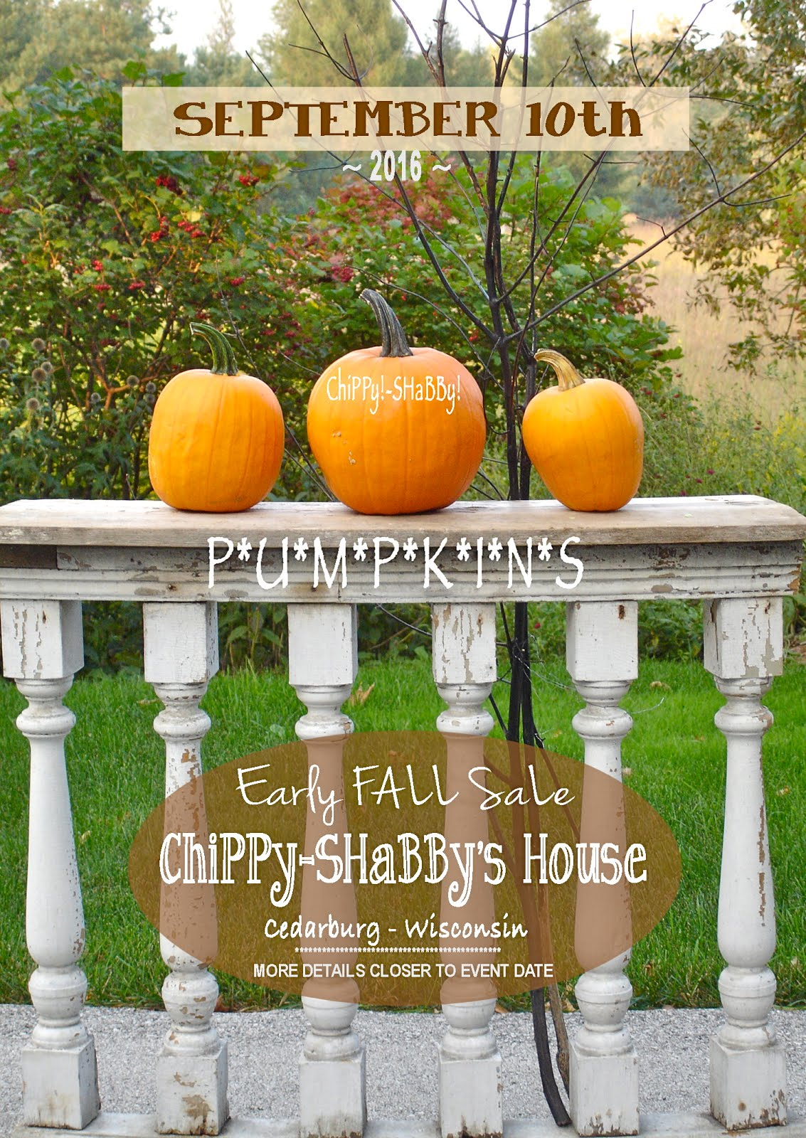 Saturday SEPT. 10th SaLe @ ChiPPy-SHaBBy's House