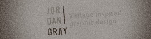 Jordan Gray: Vintage inspired graphic design