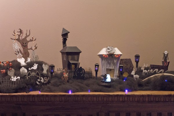 Nightmare before Christmas scene made out of paper