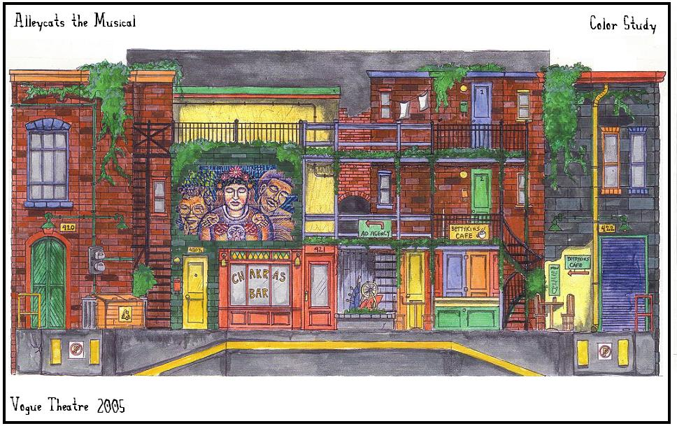 Front Of House Theatre Design Part - 33: Here Is A Color Study I Presented To The Director. This Is A Front Elevation