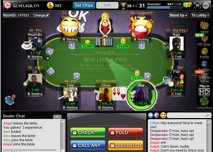 Texas Holdem Pocker Facebook