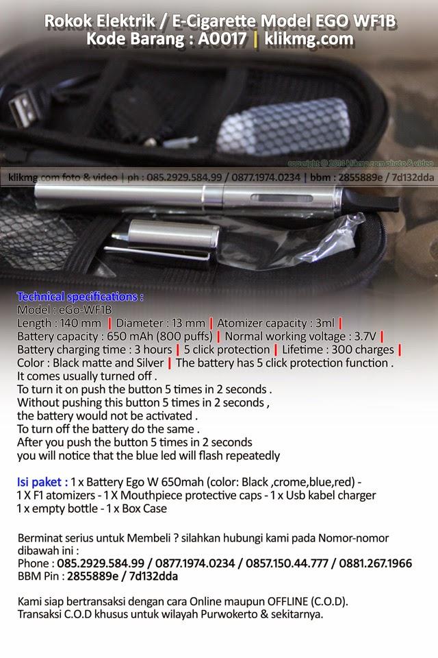 Rokok Elektrik / E-Cigarette Model EGO WF1B - Kode Barang : A0017