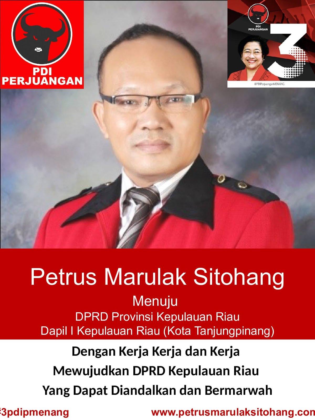 PETRUS M. SITOHANG UNTUK DPRD KEPRI