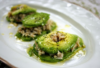 "Crab Avocado ""Ravioli"" from Simple Living and Eating"