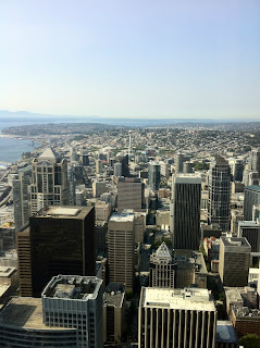le nord de seattle vu depuis le Columbia Center