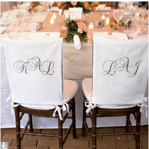 How About Monograms On A Pair Of Chairs Beautiful