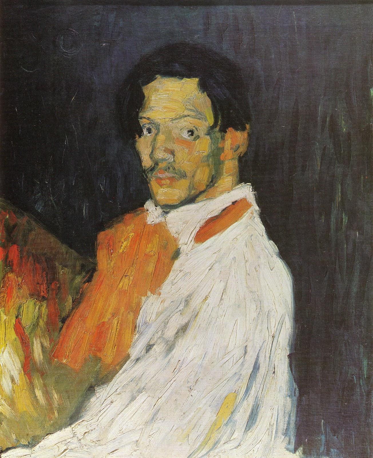 Picasso Portrait Self Portrait 39 yo Picasso 39