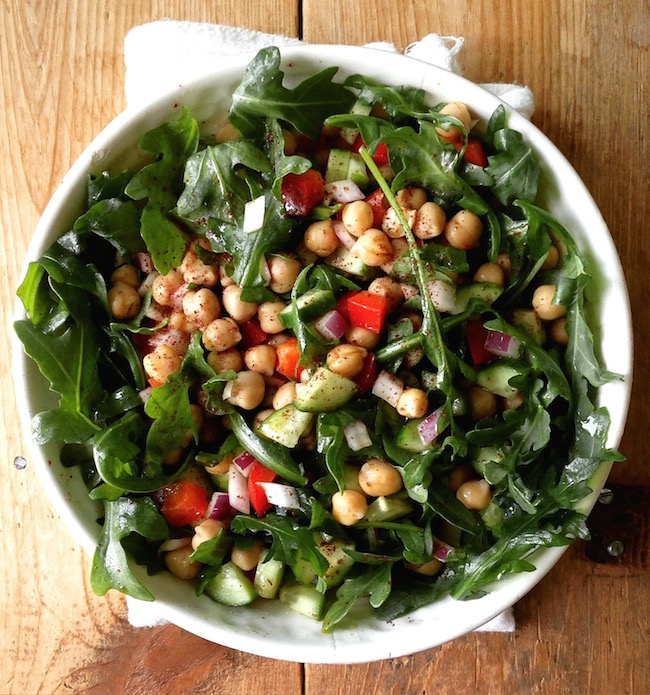 Middle Eastern Chickpea Salad with Sumac by SeasonWithSpice.com