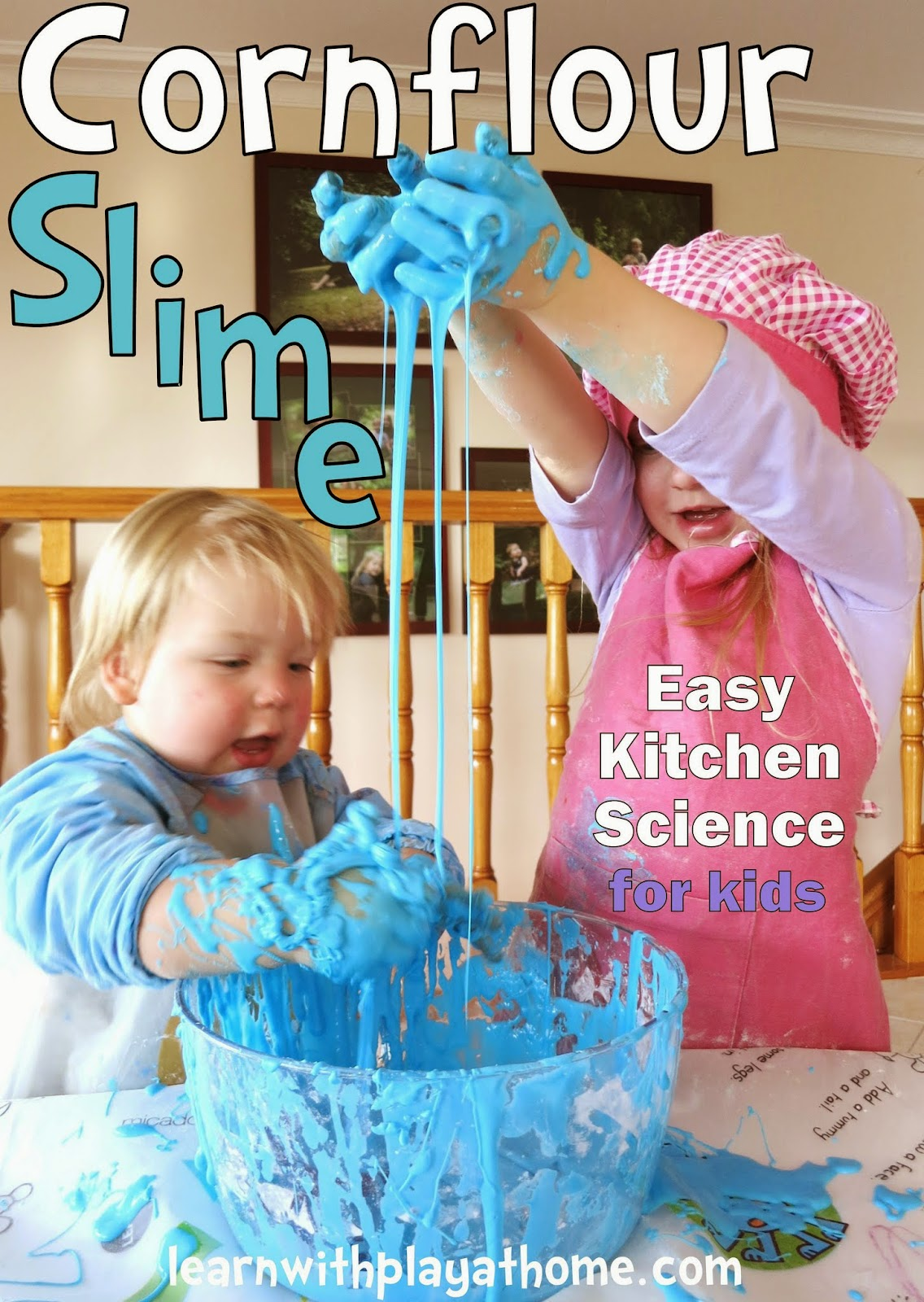 Learn with play at home cornflour slime how to make and what not aug 8 2013 ccuart Images