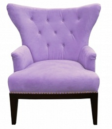 chair in lavender color