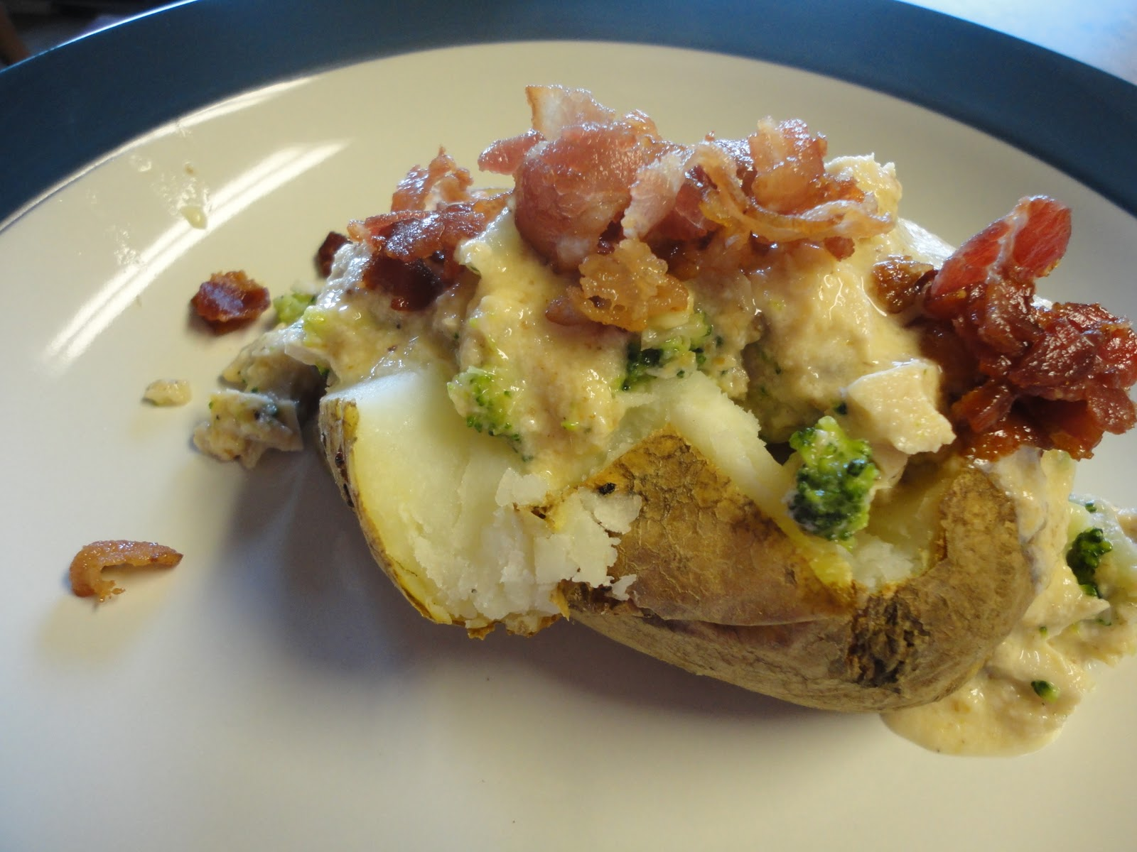 ... Frickin Chicken: Cheesy Chicken and Broccoli Stuffed Baked Potatoes