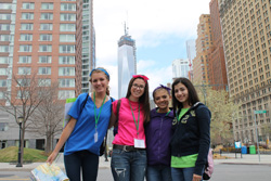 Girl Scouts of Nassau County (GSNC)  Girl Scouts Stand in Front of Freedom Tower
