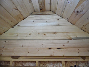 The gable over the loft