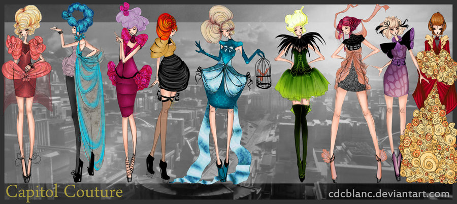 fashion and action hunger games inspired fashion designs