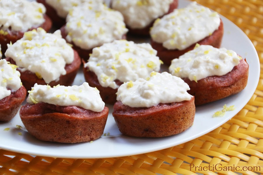 Beet & Apple Cupcakes with Lemon Frosting