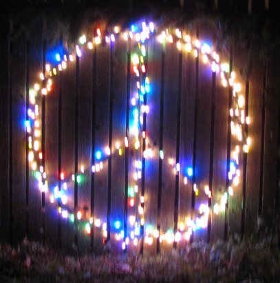 - Editorials From Theslowlane: Peace Sign In Christmas Lights