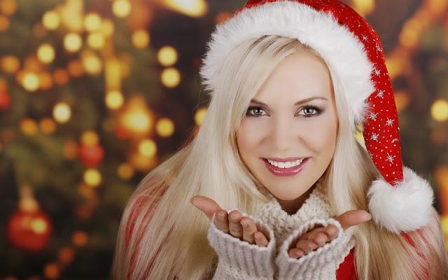 Girl Blonde Smile Christmas New Year