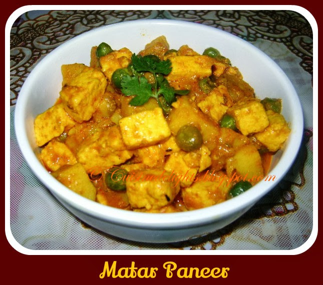 Matar paneer pure veg version no onion no garlic cuisine delights this also provide good texture without having to add heavy cream or even the cashew paste you need to prepare special garam masala which added an amazing forumfinder Images