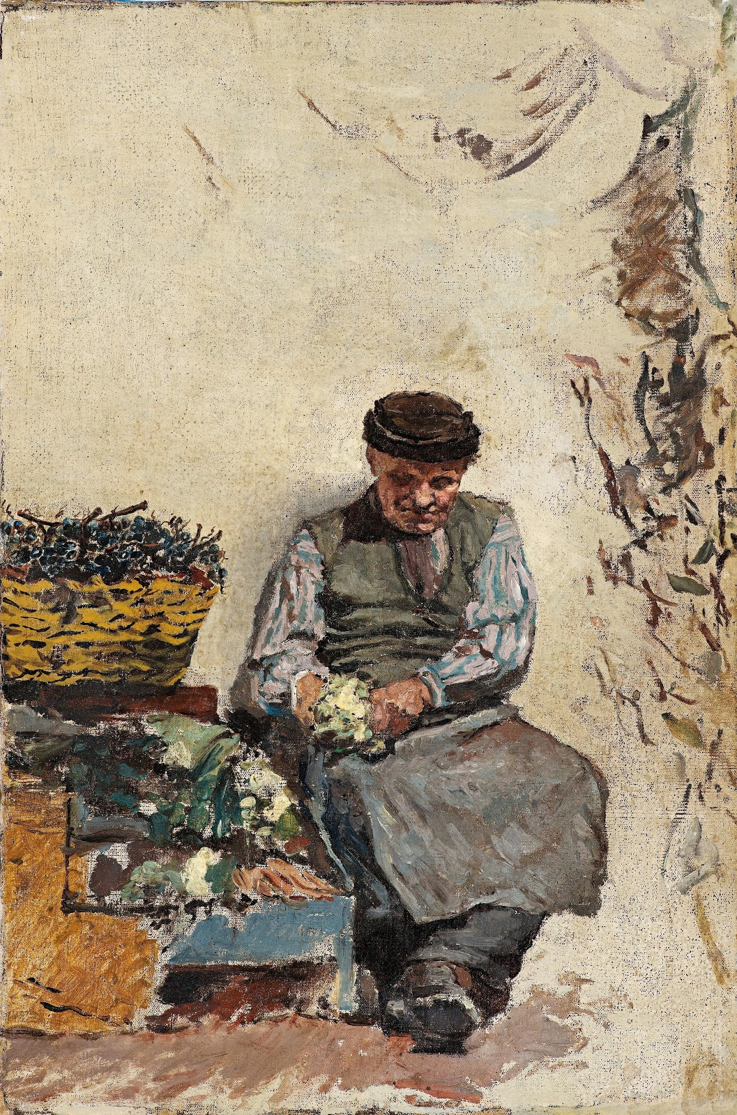 Antonino Leto Peeling vegetables