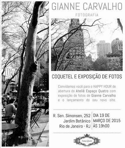 Espaço Quatro inaugura ateliê no Jardim Botânico com exposição fotográfica de Gianne Carvalho